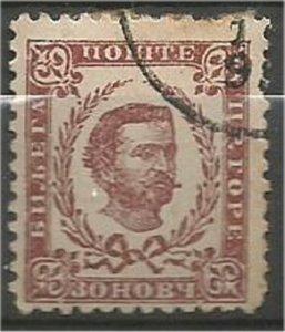 MONTENEGRO 1894, used 30n, Prince Nicholas I Scott 41