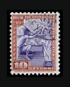 VINTAGE: MEXICO 1934 USD BH SCOTT #706 LOT M1934W