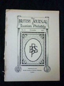 THE BRITISH JOURNAL OF RUSSIAN PHILATELY No 10 NOVEMBER 1952