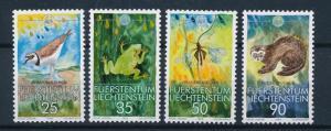 [54289] Liechtenstein 1989 Animals WWF Bird Frog Dragonfly Polecat MNH