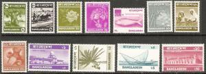Bangaladesh 1976-7 Scott 95-106 Definitives MNH