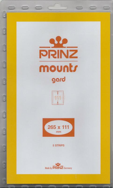 PRINZ 265X111 (5) CLEAR MOUNTS RETAIL PRICE $11.50