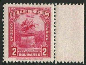 Venezuela C159,MNH.Michel 366. Air Post 1943. Bolivar statue,Caracas.