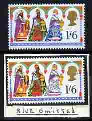 Great Britain 1969 Christmas 1s6d with new blue omitted (...