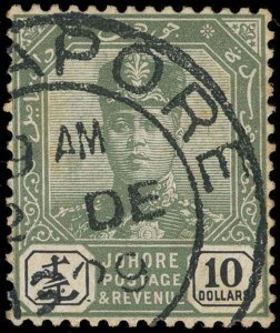 Malaya / Johore Scott 101-122 Gibbons 103-125 Used Set of Stamps