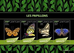 Z08 IMPERF DJB190607a Djibouti 2019 Butterflies MNH ** Postfrisch
