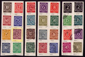 1946  Germany Sc 530-588 -MH -Used DDR Identified Collection of Twenty Eight EA