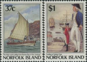 Norfolk Island 1988 SG436-437 Settlement 5th issue MNH