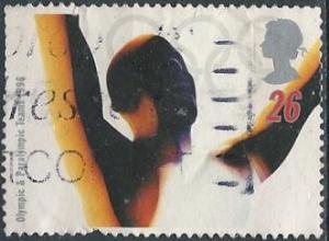 Great Britain 1692 (used) 26p Paralympic Games: victorious athlete (1996)