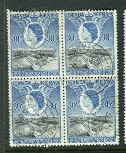 BRITISH KUT; 1950s early QEII pictorial issue fine used 30c. BLOCK