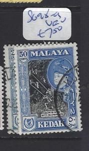 MALAYA KEDAH (P0707B)  SULTAN 20C-50C   SG 98-9   VFU
