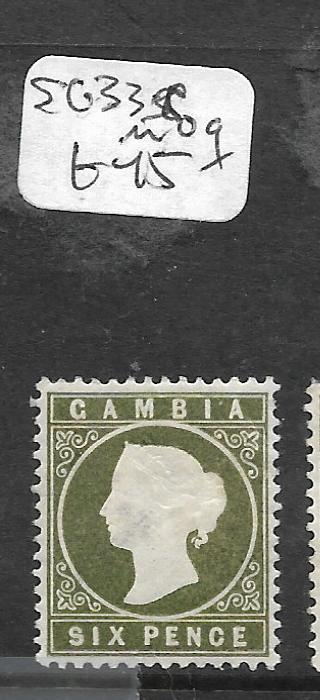 GAMBIA (PP2501B) QV CAMEO 6D  SG 33C  MOG