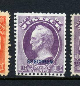 Scott #O32S Justice Dept. Special Printing Specimen Official Stamp (Stk #O32-1)