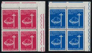 Vatican TR Blocks 453-4 MNH Congress of Catholic Laymen, Map, Globe