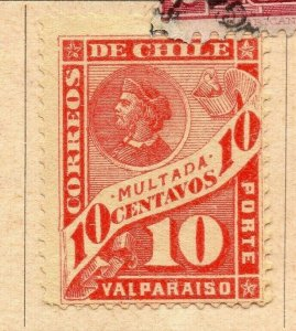 Chile 1894-95 Early Issue Fine Mint Hinged 10c. NW-09270
