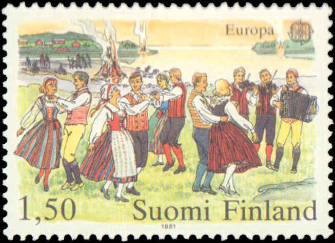1981 Finland #655-656, Complete Set(2), Never Hinged