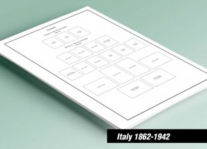 PRINTED ITALY [CLASS.] 1862-1942 STAMP ALBUM PAGES (55 pages)