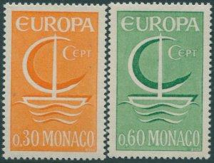 Monaco 1966 SG856-857 Europa ship set MNH