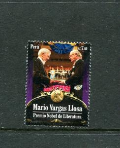 Peru 1767, MNH, Mario Vargas Llosa Nobel Prize Literature 2011. x29617