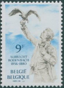 Belgium 1980 SG2610 9f Albrecht Rodenbach poet MNH