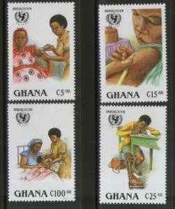 Ghana 1988 UNICEF Child Survival Campaign Health Sc 1051-54 MNH # 165