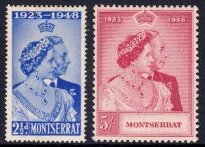 Montserrat - Scott #106-107 - MH - Gum toning - SCV $9.25