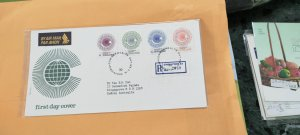 1983 SINGAPORE REGISTERED FDC TO AUSTRALIA  ON COMMONWEALTH DAY STAMPS SET