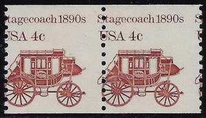 1898A Misperf Error / EFO Pair Stagecoach Transportation Series Mint NH