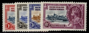 BECHUANALAND PROTECTORATE GV SG111-114, SILVER JUBILEE set, NH MINT. Cat £17.