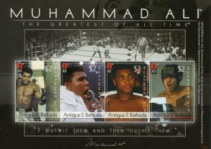 Antigua & Barbuda Boxing Stamps 2008 MNH Muhammad Ali Sports 4v M/S II