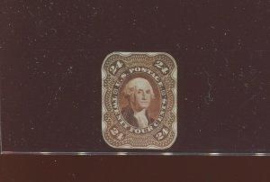 70-E4b Washington Complete Design Essay Stamp with Corner Numerals (70 E4 A1)