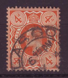 J19703 Jlstamps 1909-10 great britain used #144 king