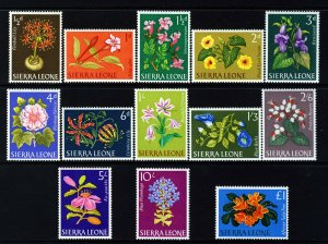 SIERRA LEONE 1963 The Complete Flowers Set SG 242 to SG 254 MINT