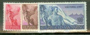 BD: San Marino 272-6 mint CV $45; scan shows only a few