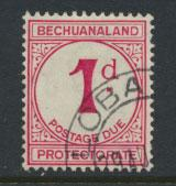 Bechuanaland Postage Due SG D5 normal d  Used  PO Cancel