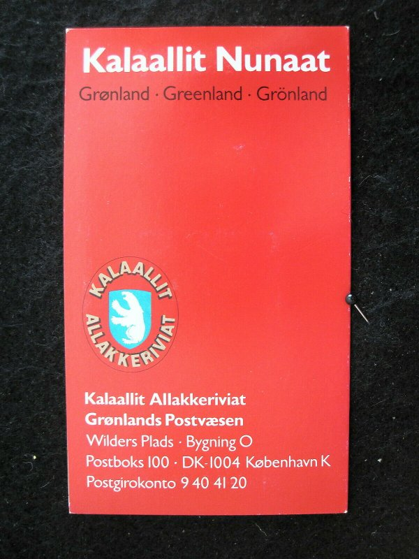 GREENLAND - SCOTT# 224a - COMPLETE BOOKLET - CAT VAL $47.50