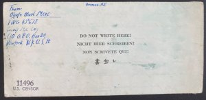 1944 USA Mc Coy Camp POW prisoner War Letter Sheet Cover To Germany