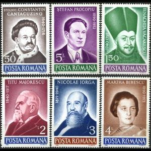 ROMANIA 1990 - Scott# 3626-31 Famous Persons Set of 6 NH