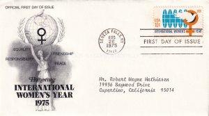 1975, International Women's Year, PCS, FDC (E12284)