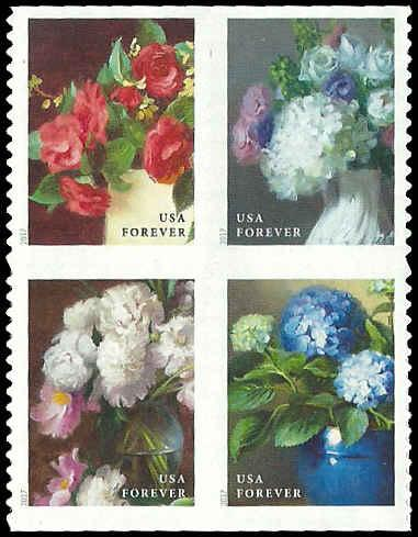 PCBstamps  US # 5237/5240a Bk Block $1.96(4x{49c})Flowers, MNH, (PCB-3)