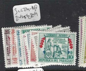 PARAGUAY  (P2505B) SC  C234-240, 242-5   MOG