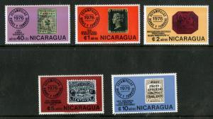 NICARAGUA C913-C917 MNH SCV $2.90 BIN $1.50 STAMPS ON STAMPS