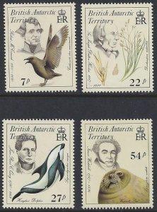 British Antarctic Territory #125-28 MNH set, Naturalists of flora & fauna