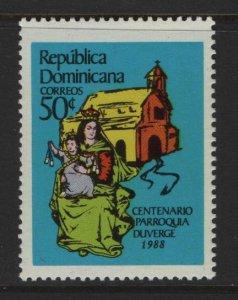 DOMINICAN REPUBLIC 1040 MNH  DUVERGE PARRISH ISSUE 1988