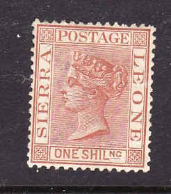 Sierra Leone-Sc#31-unused hinge 1sh orange brown-QV-1888-