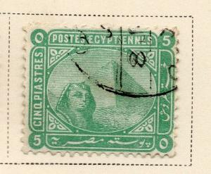 Egypt 1879 Early Issue Fine Used 5p. 324053