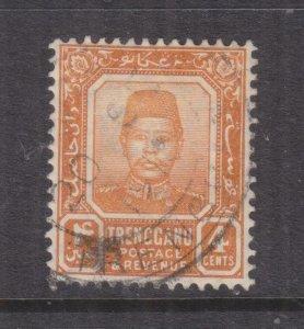 TRENGGANU, MALAYSIA, 1910 4c. Orange, used.