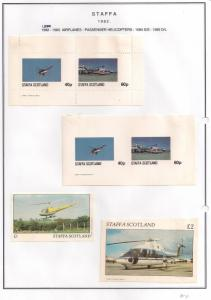 SCOTLAND - STAFFA - 1982 - Helicopters - Perf. Imperf 2v, Souv, D/L Sheets -MLH