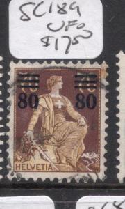 Switzerland SC 189 VFU (9dgk)