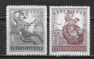 Czechoslovakia B166-7 1949 Child Welfare set MNH